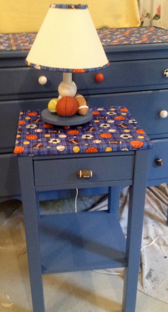 Best Boy S Sports Themed Bedside Table Toddler Bedroom 400 x 300