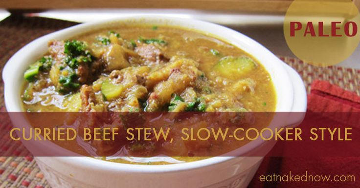 Curried Beef Stew, Slow-Cooker style | Food - Main Dishes | Pinterest