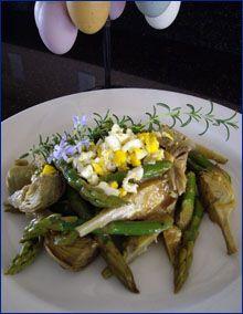 Baby Artichoke & Asparagus Salad | All about artichokes | Pinterest