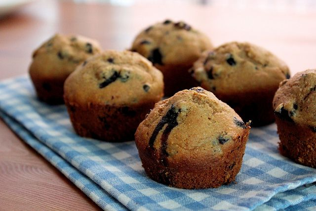 whole wheat blueberry muffins | Clean Eating | Pinterest