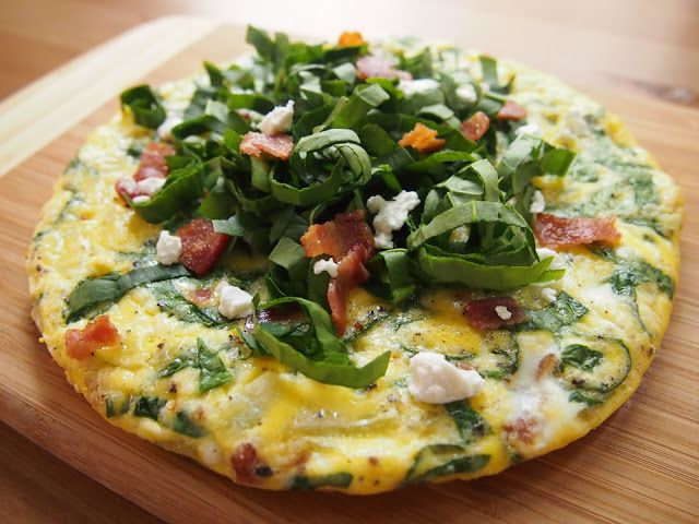 Cooking with Kale: Spinach & Goat Cheese Frittata