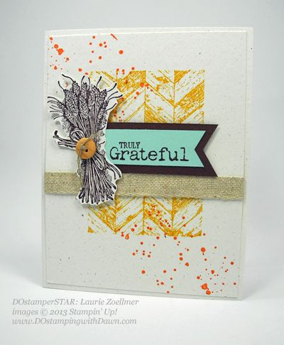 Stampin up dawn olchefske fall themed swaps truly grateful