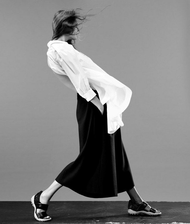 Shape Shifter | June 2013 ed. WSJ Magazine by Josh Olins with Malgosia Bela  http://basicsfashionblog.blogspot.com/2014/10/key-piece-white-shirt.html