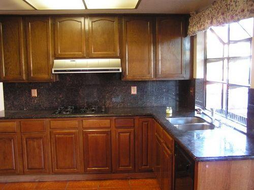 oak kitchen restaining cabinets restaining kitchen cabinets