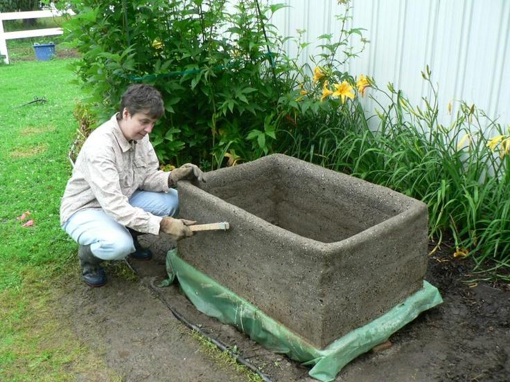 Diy Concrete Planter Gardening Pinterest 400 x 300
