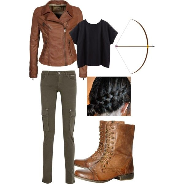 """Katniss Everdeen Hunting Outfit"" by mirandaalvarez on Polyvore"