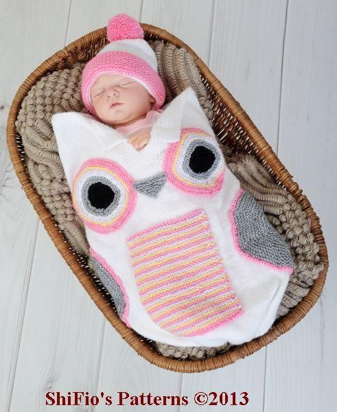Crochet Owl Baby Bunting Pattern : Pin by Sonja on BABY BUNTING ETC Pinterest