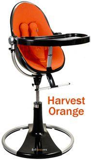 Above bloom fresco loft high chair black base harvest orange