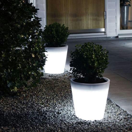 glow flower pots home garden pinterest