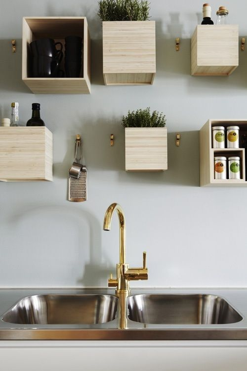 trend alert 11 kitchens with wall mounted box shelving by. Black Bedroom Furniture Sets. Home Design Ideas