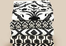Love this selection of black and white fabrics.