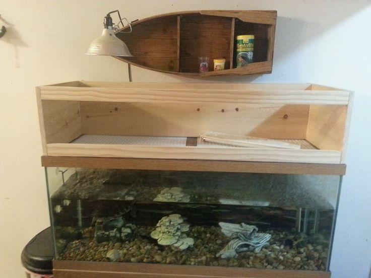 Basking Area For Aquatic Turtles : turtle tank basking area - aquarium tank into a turtle basking area ...