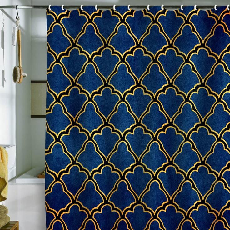 arcturus quatrefoil shower curtain