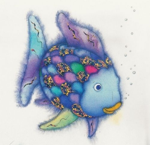 The rainbow fish beautiful message children books for Rainbow fish children s book
