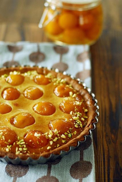 crushed pistachios, apricot tart, glaze | Desserts | Pinterest