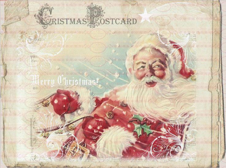Vintage+Bügelbild+Weihnachten+Weihnachtsmann++1542+von+Doreen`s+Bastelstube++-+Kreativ+&+Außergewöhnlich+auf+DaWanda.com