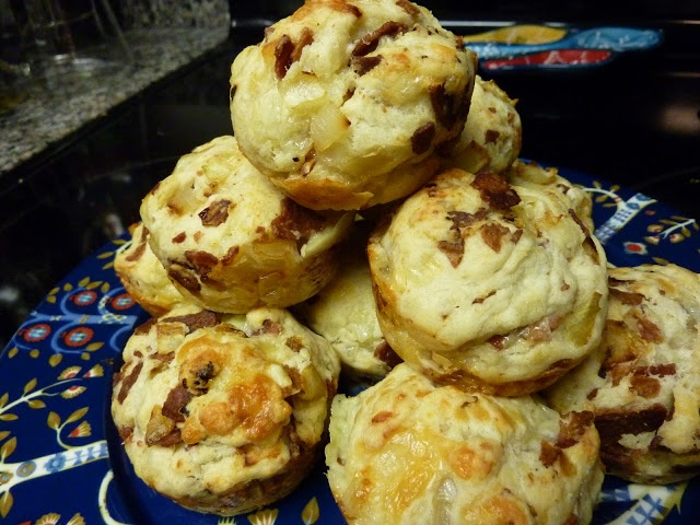 Grubbin' Pugs: Bacon, Onion, and Cheese Biscuits