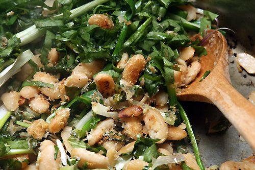 Ottolenghi's Fried Beans with Sorrel, Feta & Sumac | Recipe