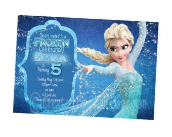 Frozen birthday party invitations google search kids pinterest