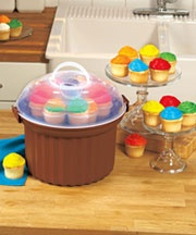 I just bought this! cant wait to make some yummy cupcakes and transport them to someone's house!
