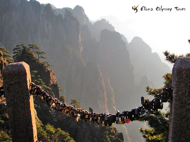 The Lover Locks on Mt. Huangshan, China | Getting Around ...