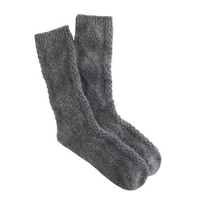 Crew cable knit socks moda pinterest