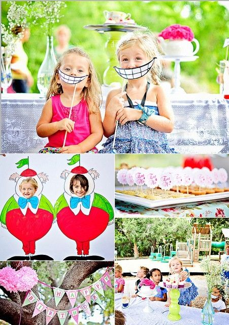 Alice in wonderland party alice in wonderland birthday for Alice in wonderland birthday decoration ideas