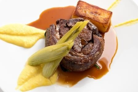 Spring Rosemary Shrager menu 2014 - Hogget with fennel, saffron, fondant and lamb jus