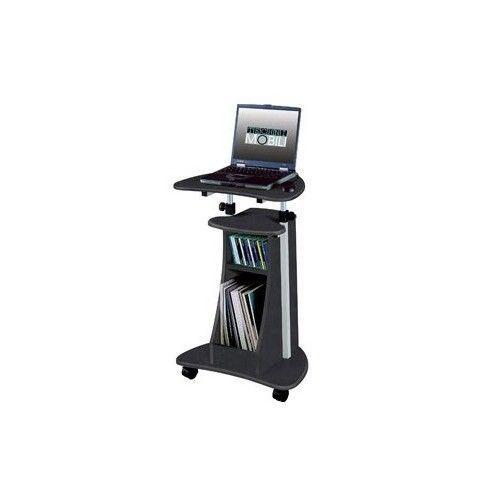 Mobile Computer Cart Adjustable Laptop Workstation Stand