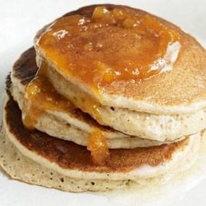 Whole Wheat Pancakes Recipe   food.snacks.drinks   Pinterest
