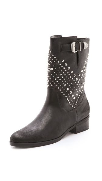 These boots are a classic, with a simple studded chevron pattern. Schutz Aliria Studded Boots for $275 at Shopbop.