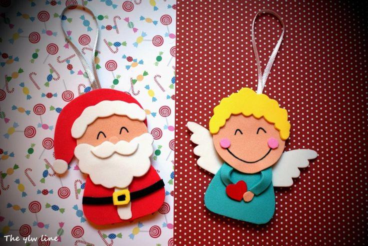 Adornos con goma eva foamy navidad pinterest - Manualidades de navidad con goma eva ...