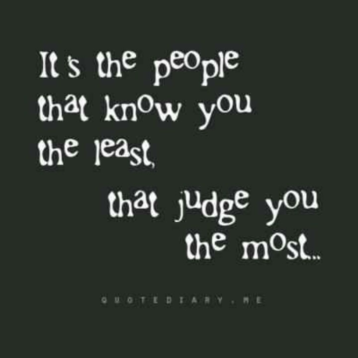 Quotes About Judging S...