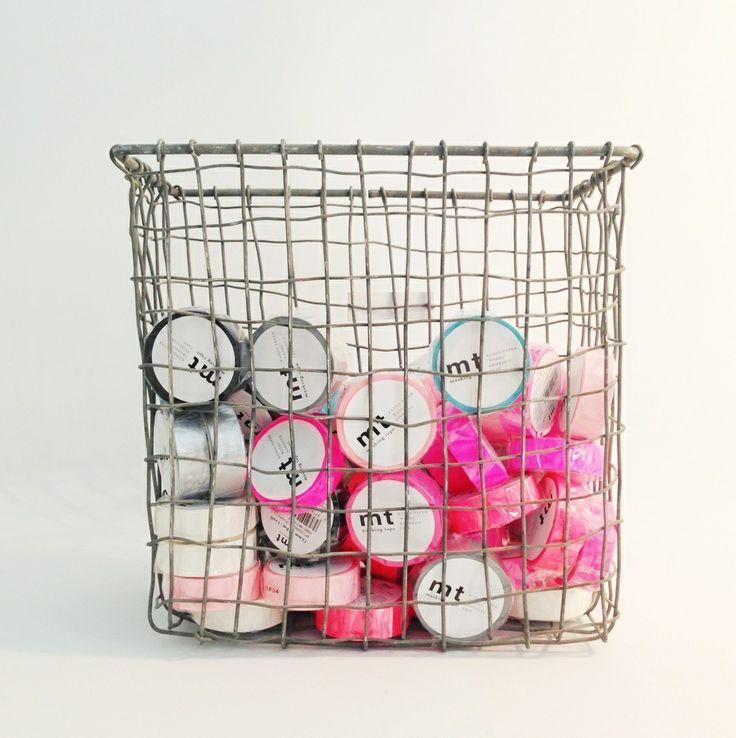 wire basket storage my golf pinterest. Black Bedroom Furniture Sets. Home Design Ideas