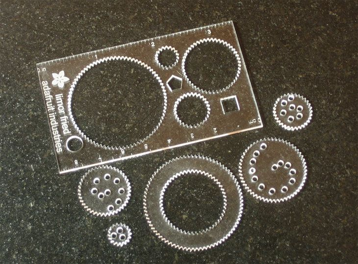 Laser Cut Acrylic Spirograph Business Cards