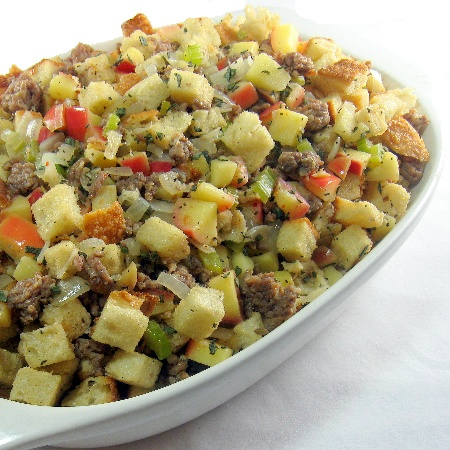 More like this: stuffing , apples and peas .