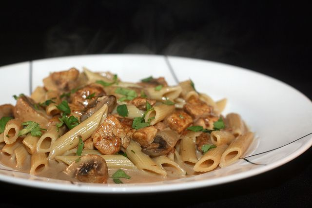 Creamy Chicken Marsala Pasta..I will probably grill the chicken.