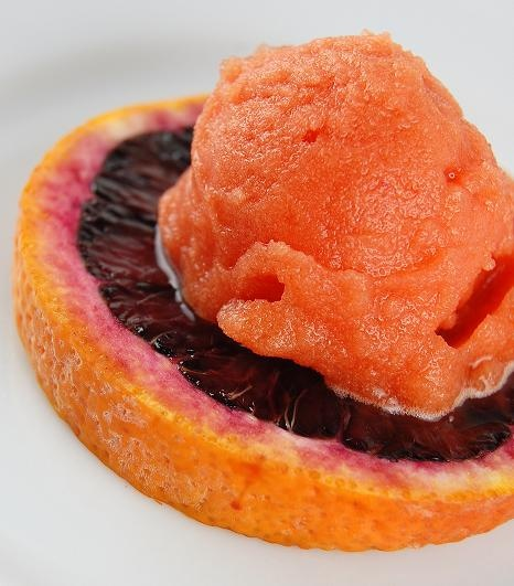 Blood Orange Sorbet (Would be excellent with a little raspberry juice ...