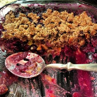 Crisp (used blackberry, the fruit was yummy. I made my own almond ...