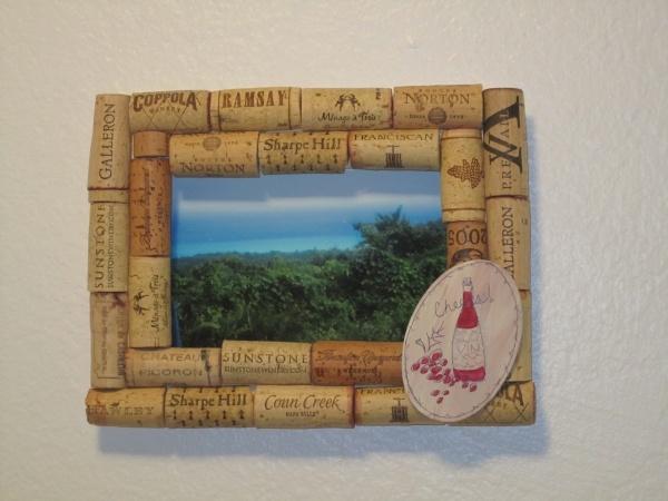 wine cork frame  Wine Bottles and Cork fun  Pinterest