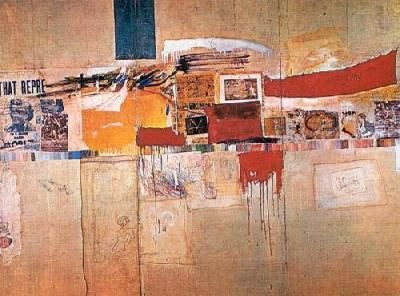 Collage work. Robert Rauschenberg