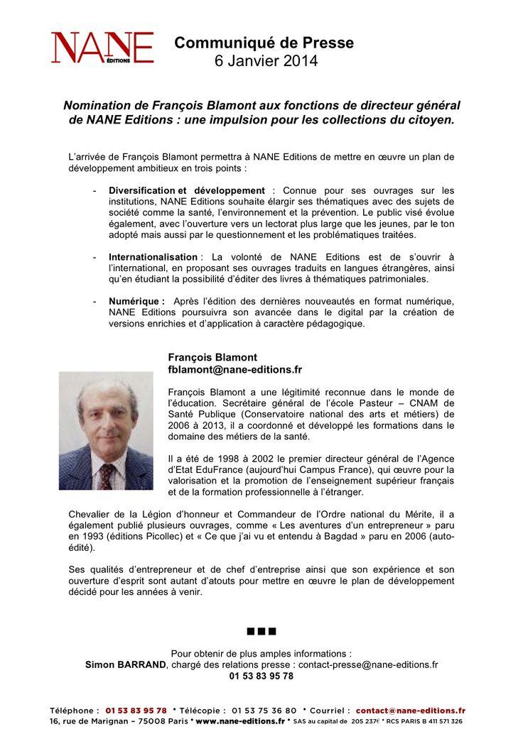Nomination François Blamont