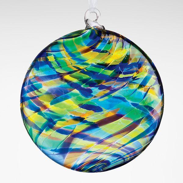 Peacock Art-Glass Orna...