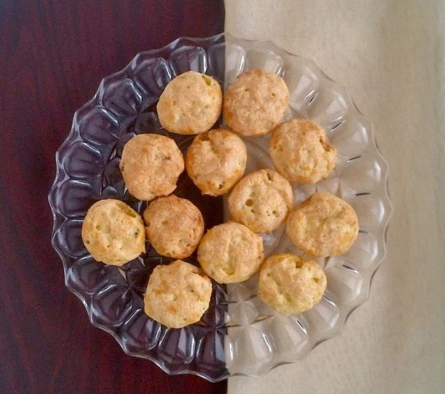 Gougeres (French Cheese Puffs) | Food | Pinterest