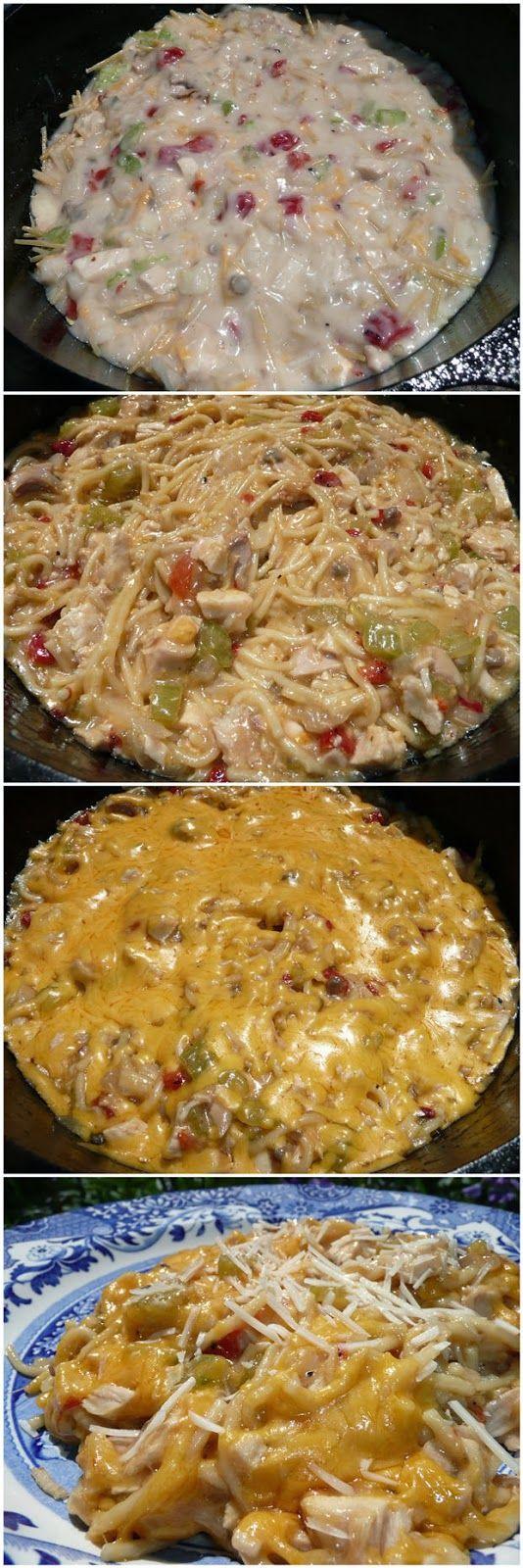 Chicken Spaghetti Casserole Recipe — Dishmaps