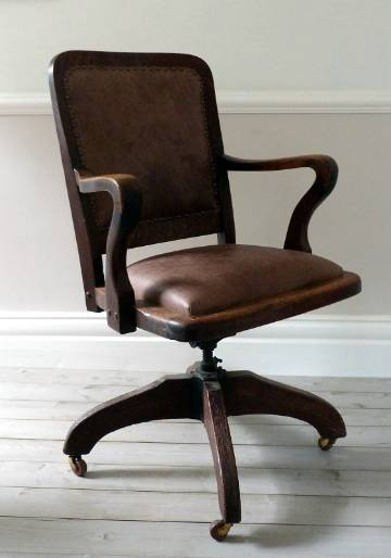 antique leather architects desk chair ff e research hotel new