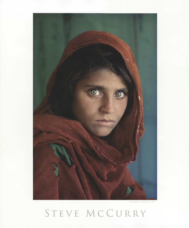 Afghan Girl  Steve McCurry  Crazy Great Art!  Pinterest