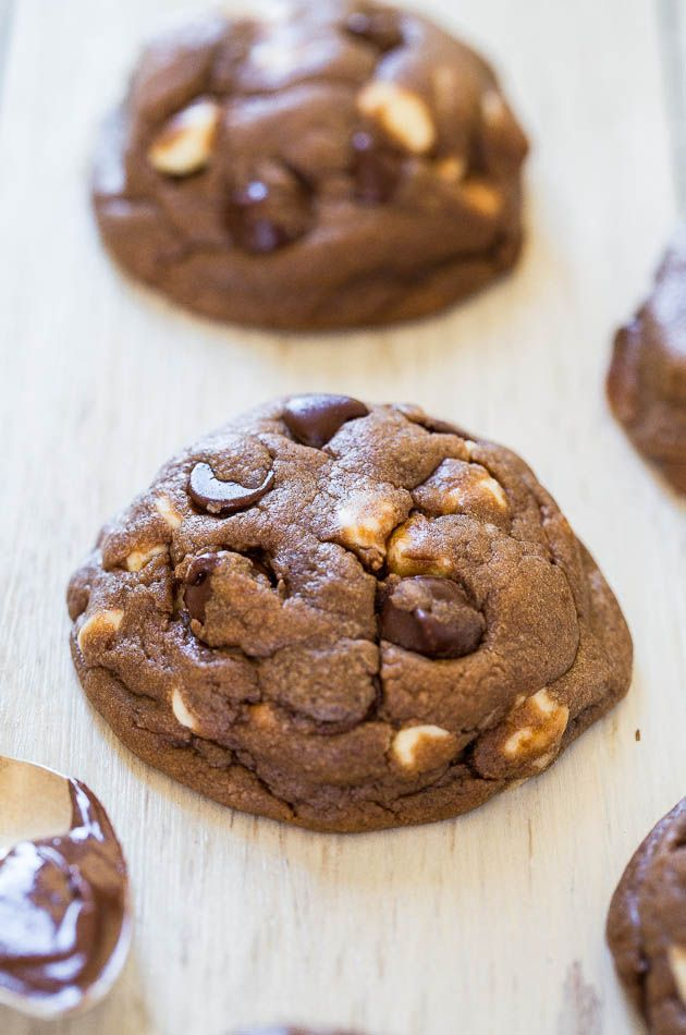 Soft and Chewy Nutella White Chocolate Chip Cookies | Recipe