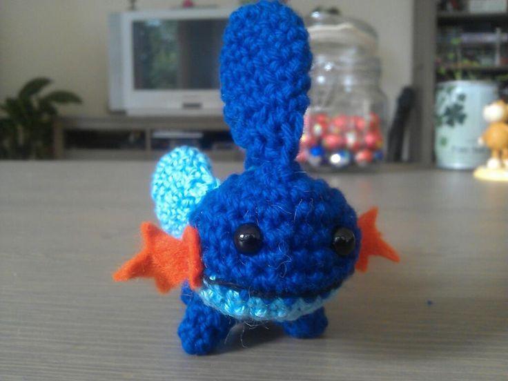 Crochet Patterns Pokemon Characters : Mudkip - Pokemon Character - Free Amigurumi Pattern here: http ...