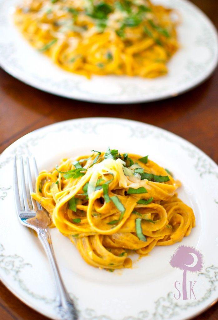 Pumpkin Parmesan Fettuccine Alfredo | Recipe